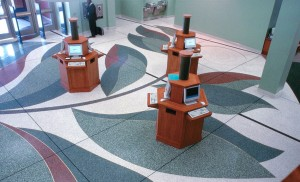 terrazzo flooring design clayton library