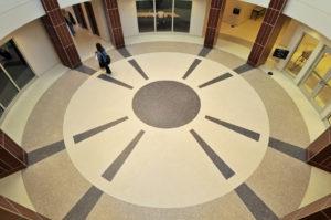 terrazzo flooring design ivy tech community college