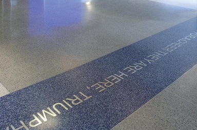 terrazzo flooring design university michigan crisler center
