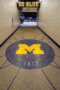 terrazzo flooring design university of mighican crisler center