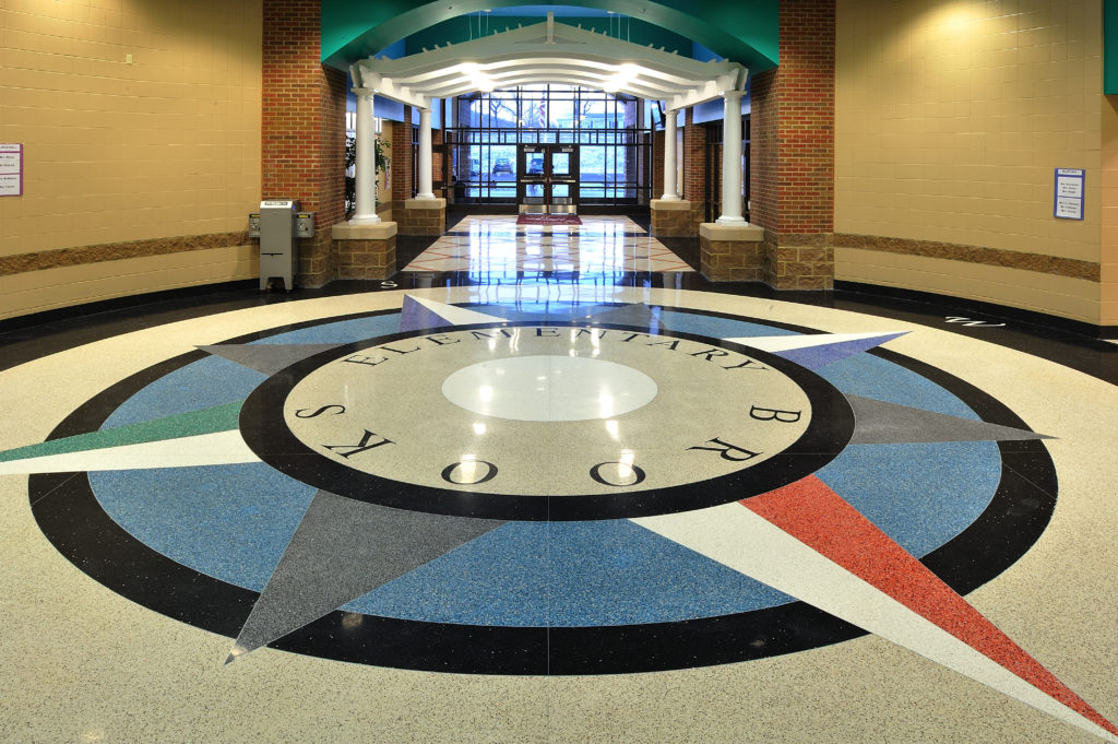 terrazzo flooring design brooks elementary school kentucky