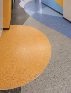 terrazzo flooring design aspira illinois business school