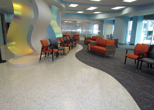 terrazzo flooring design devos children's hospital helen