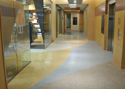terrazzo flooring design kettering medical center