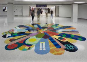 terrazzo flooring design lambert airport st. louis missouri