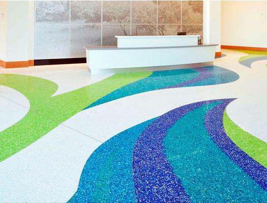 terrazzo flooring design mane inc