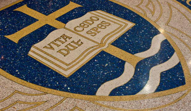 terrazzo flooring design notre dame university eck hall