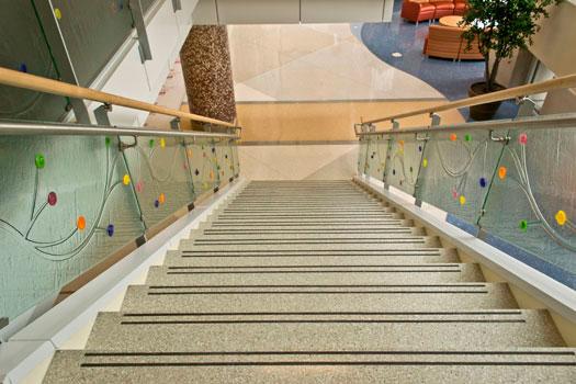 terrazzo flooring design riley hospital for children