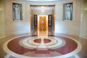 terrazzo flooring design sisters of st. francis perpetual adoration