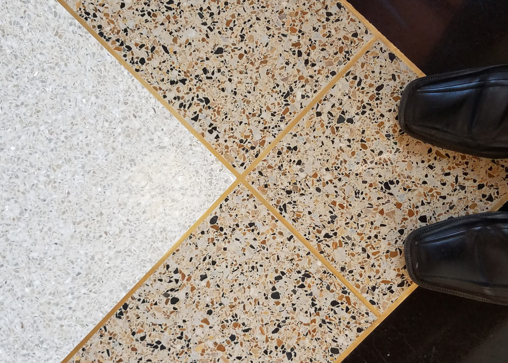 terrazzo flooring design stayer center notre dame