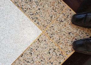terrazzo flooring design stayer center notre dame