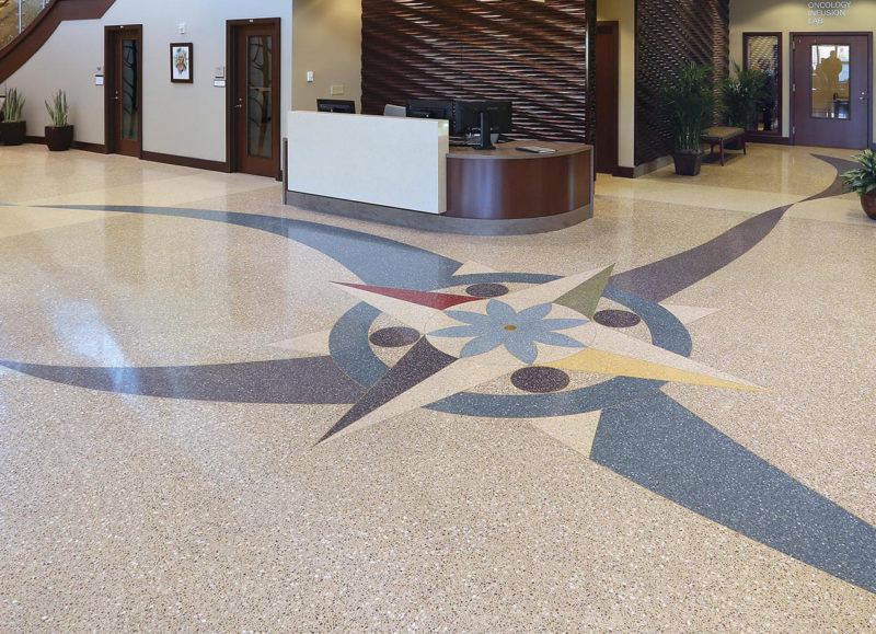 terrazzo flooring design adventist amita cancer institute