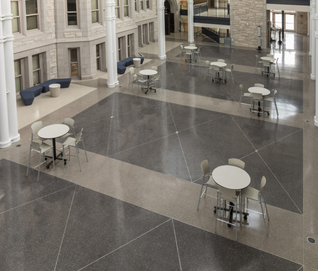 terrazzo flooring design joliet central high school