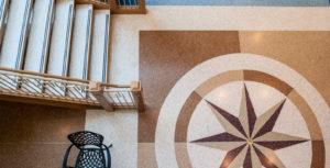 terrazzo flooring design st. ignatius chicago