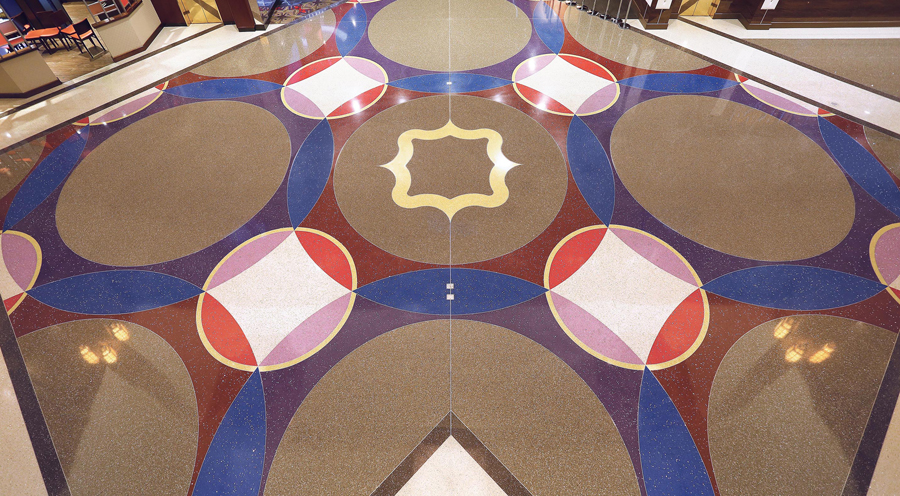 Grand Victoria Casino's main floor pattern