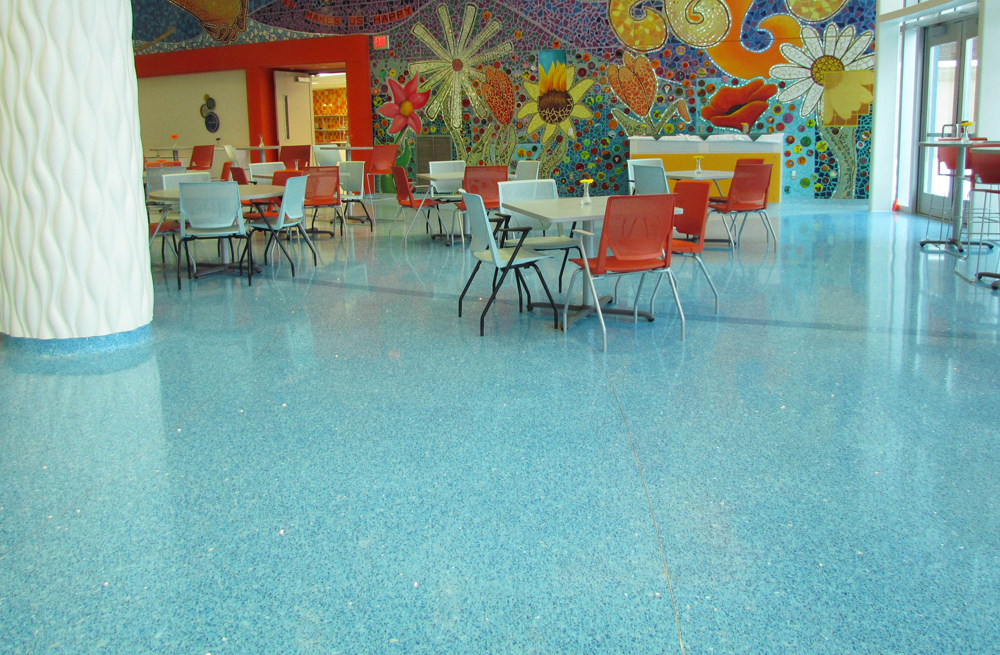 Devos Children's Hospital terrazzo colors