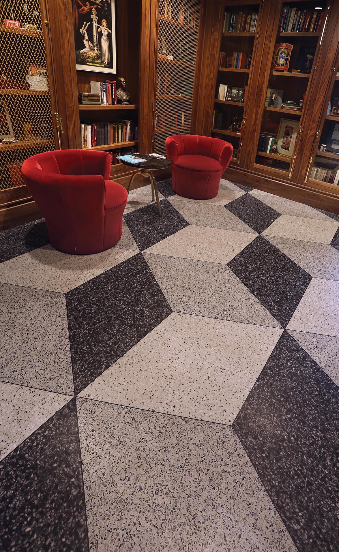 chicago magic lounge terrazzo 3d flooring menconi