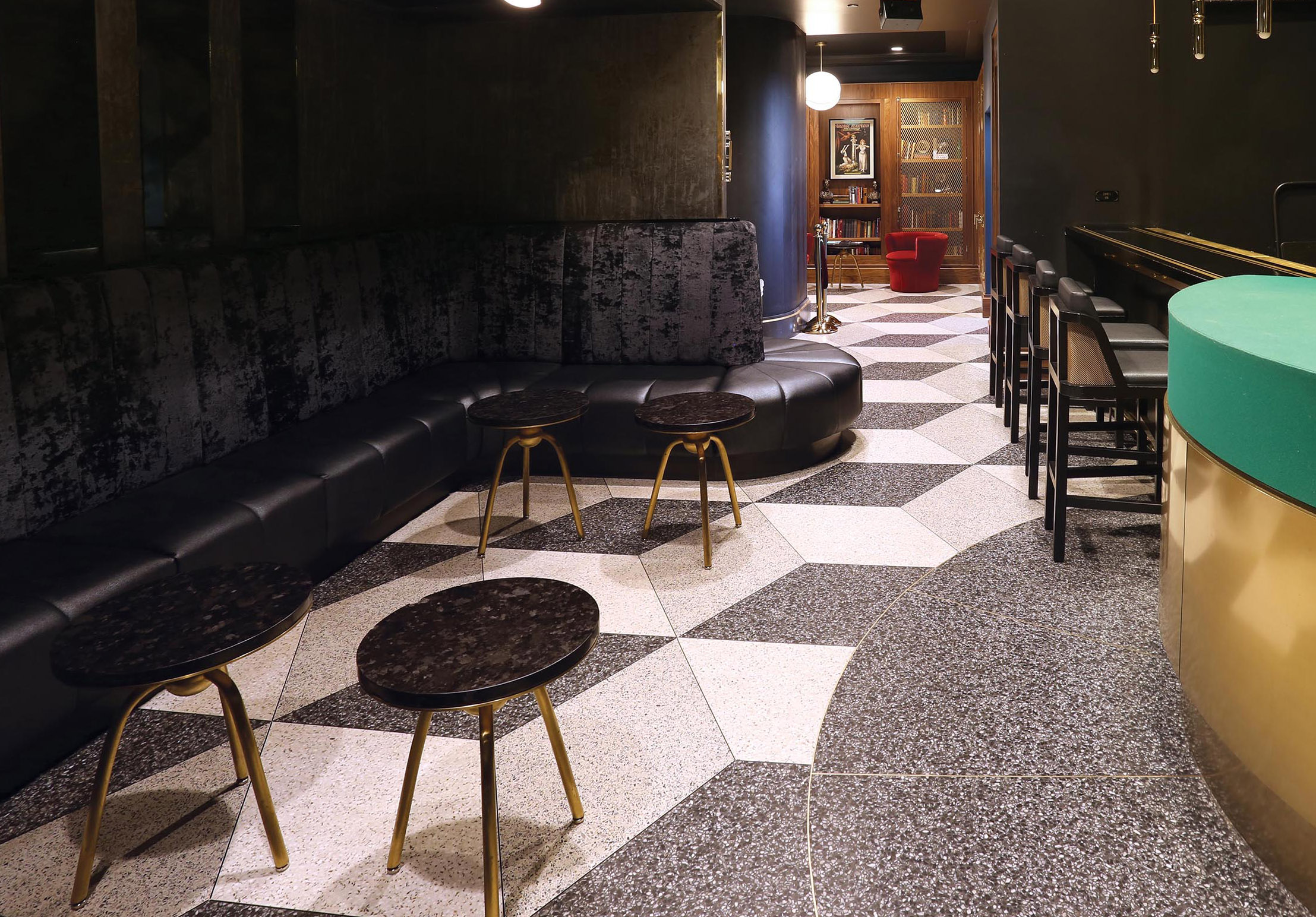 Chicago magic lounge terrazzo flooring 3D menconi