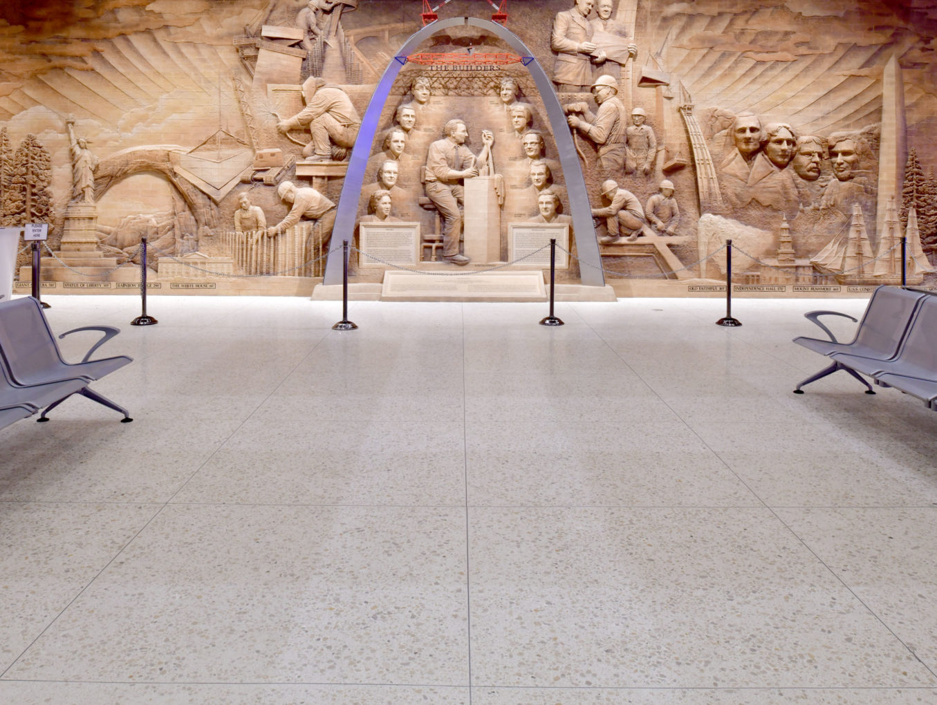Gateway Arch Museum Stands On Multi Level Terrazzo Floors Ncta